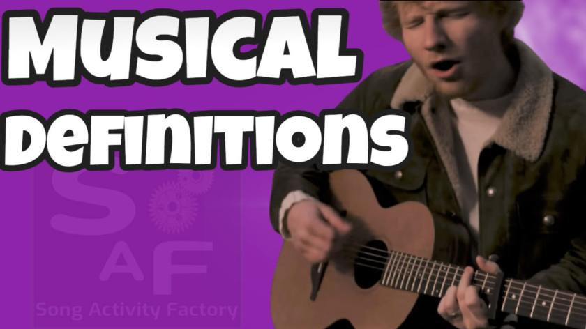 song activity factory musical definitions ed sheeran afterglow lesson plan